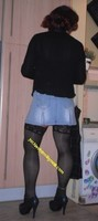 jupette jeans corset bleu 2