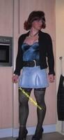 jupette jeans corset bleu 7