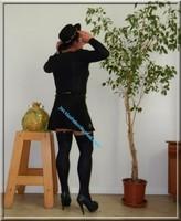 jupette noir avec body noir habille 41