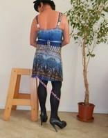 robe bleu fine bretelles 7