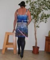 robe bleu fine bretelles 4