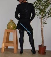 jupette noir avec body noir habille 15