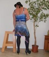 robe bleu fine bretelles 10