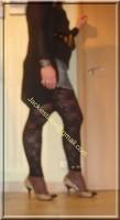 minijupe jeans top noir 4