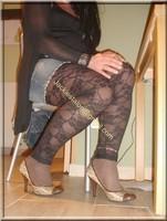 minijupe jeans top noir 17