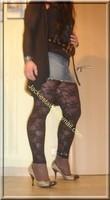 minijupe jeans top noir 13