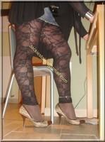 minijupe jeans top noir 22