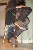 minijupe jeans top noir 18