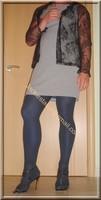 robe grise a carreau 3