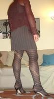 robe marron ligne collants dessin 10