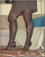 robe marron ligne collants dessin 12