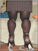 robe marron ligne collants dessin 3