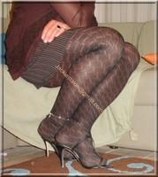 robe marron ligne collants dessin 7