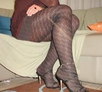 robe marron ligne collants dessin 16