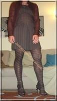 robe marron ligne collants dessin 11