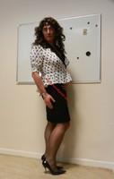 robe noir et blanches avec losanges 1