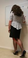 robe noir et blanches avec losanges 2