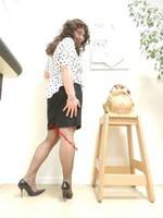 robe noir et blanches avec losanges 3
