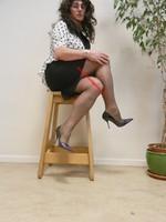 robe noir et blanches avec losanges 5