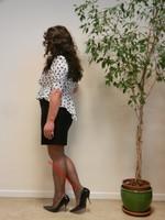 robe noir et blanches avec losanges 13