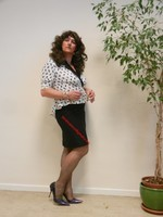robe noir et blanches avec losanges 15