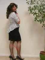 robe noir et blanches avec losanges 16
