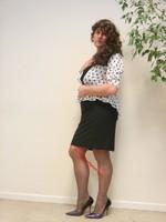 robe noir et blanches avec losanges 20