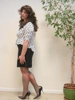 robe noir et blanches avec losanges 17