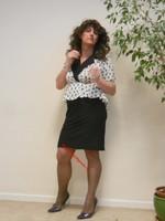 robe noir et blanches avec losanges 18