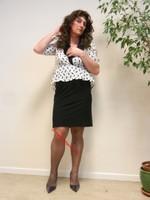 robe noir et blanches avec losanges 19