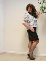 robe noir et blanches avec losanges 21