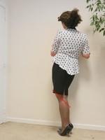 robe noir et blanches avec losanges 24