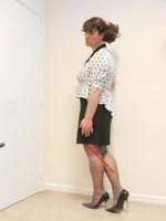 robe noir et blanches avec losanges 27
