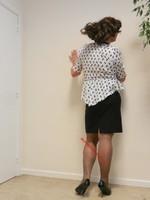 robe noir et blanches avec losanges 26