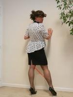 robe noir et blanches avec losanges 25