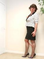 robe noir et blanches avec losanges 29