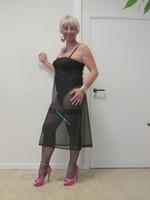 longue robe transparente noir 1