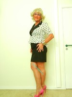 robe noir et blanche habiller 2