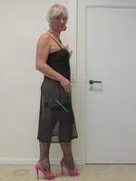 longue robe transparente noir 4