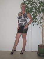 Blouse noir dessin blanc dentelle dos avec jupe noir Oh Boy clockhouse 5
