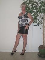 Blouse noir dessin blanc dentelle dos avec jupe noir Oh Boy clockhouse 6