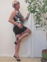 Blouse noir dessin blanc dentelle dos avec jupe noir Oh Boy clockhouse 12