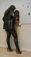 jupe noir vynil et veste vynil noir 4