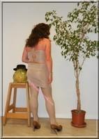 robe beige habille 1