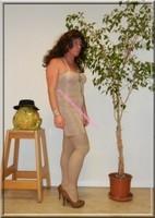 robe beige habille 2