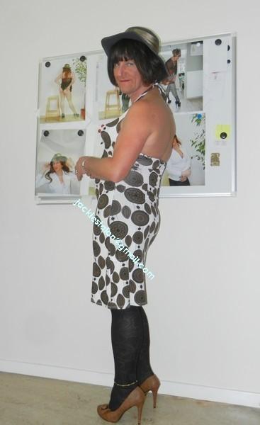 robe Lola Liza marron blanche 6