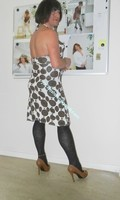 robe Lola Liza marron blanche 4