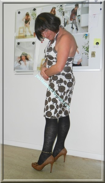 robe Lola Liza marron blanche 3