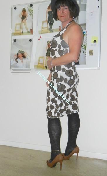 robe Lola Liza marron blanche 11