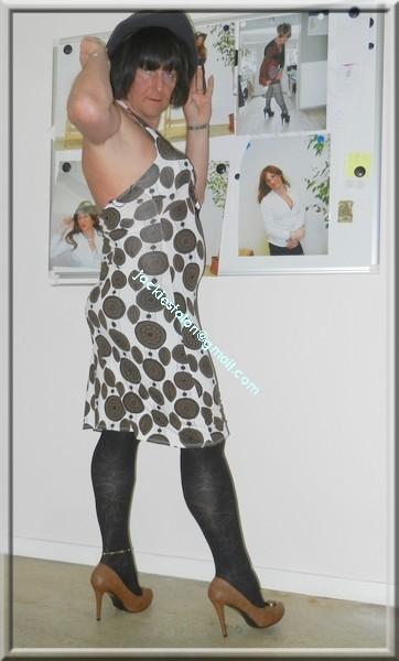 robe Lola Liza marron blanche 17